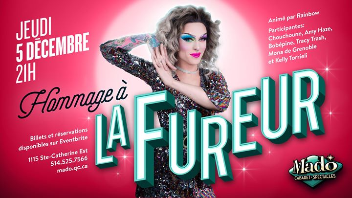 Soirée hommage à la Fureur! in Montreal le Thu, December  5, 2019 from 09:00 pm to 01:00 am (Show Gay)