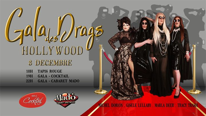 Le Gala des Drags 2019: Hollywood in Montreal le So  8. Dezember, 2019 22.00 bis 03.00 (Vorstellung Gay)