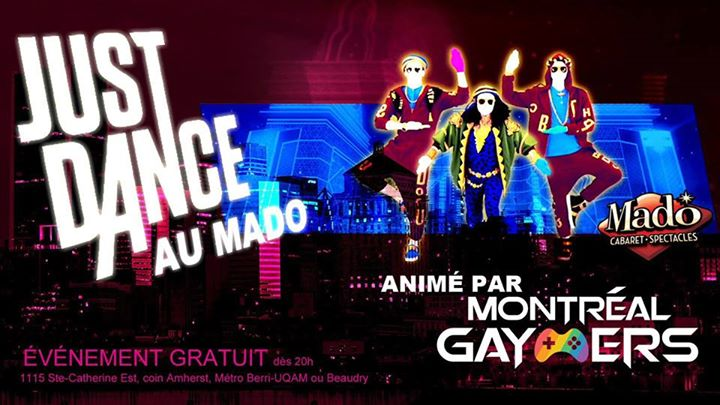 Just Dance au Cabaret Mado! in Montreal le Mon, January 13, 2020 from 08:00 pm to 12:00 am (After-Work Gay)