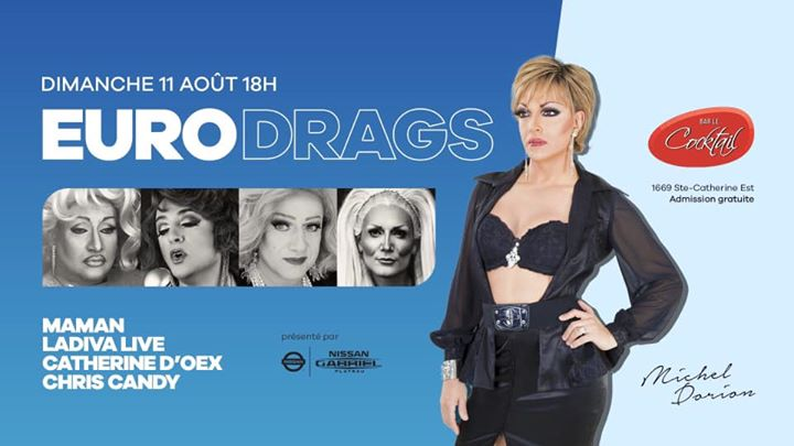 EuroDrags in Montreal le So 11. August, 2019 18.00 bis 21.00 (After-Work Gay, Lesbierin)
