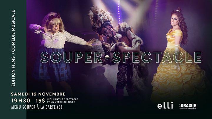 Soirée Souper Spectacle a Quebec le sab 16 novembre 2019 19:30-22:00 (Spettacolo Gay)