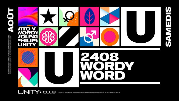 UNITY ★ Wordy Word in Montreal le Sa 24. August, 2019 22.00 bis 03.00 (Clubbing Gay)