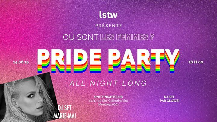 Où sont les femmes? - PRIDE PARTY à Montréal le mer. 14 août 2019 de 18h00 à 03h00 (Clubbing Gay)