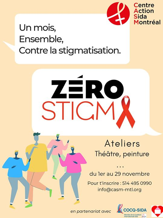Zero Stigma - La stigmatisation, les autres et moi - Bodymapping in Montreal le Wed, November 20, 2019 from 11:00 am to 06:00 pm (Meetings / Discussions Gay, Lesbian)