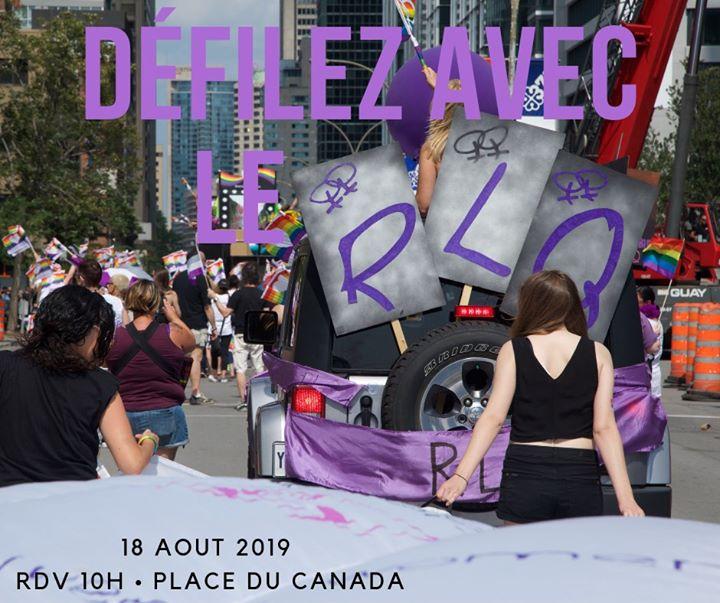 Défilez avec le RLQ! in Montreal le Sun, August 18, 2019 from 11:00 am to 03:00 pm (Festival Lesbian)