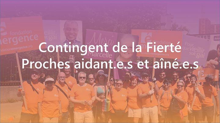 Contingent proche aidant et aîné à Montréal le dim. 18 août 2019 de 12h00 à 16h00 (Festival Gay, Lesbienne, Trans, Bi)