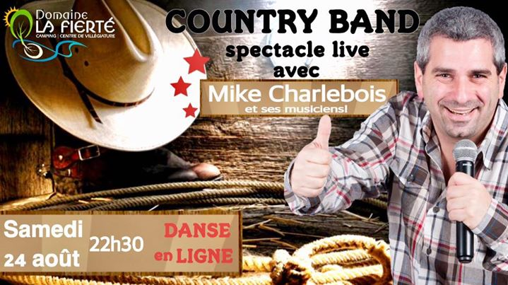 Spectacle Country band DLF in Sainte-Julienne le Sat, August 24, 2019 at 10:30 pm (Show Gay, Bear)