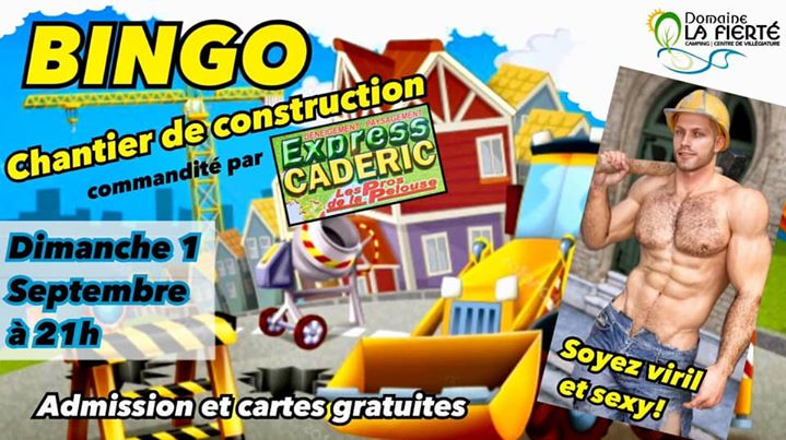 Bingo Construction in Sainte-Julienne le Sun, September  1, 2019 at 09:00 pm (Clubbing Gay, Bear)
