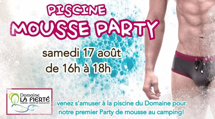 Piscine Mousse Party! in Sainte-Julienne le Sat, August 17, 2019 at 04:00 pm (Clubbing Gay, Bear)