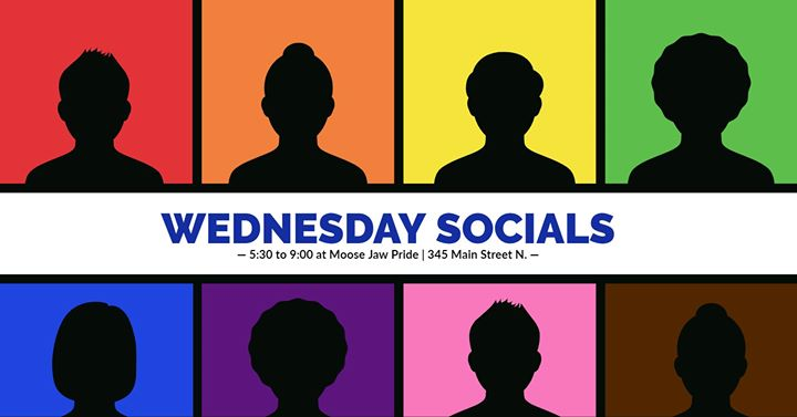 Wednesday Socials in Moose Jaw le Wed, April 22, 2020 from 05:30 pm to 09:00 pm (Meetings / Discussions Gay, Lesbian)