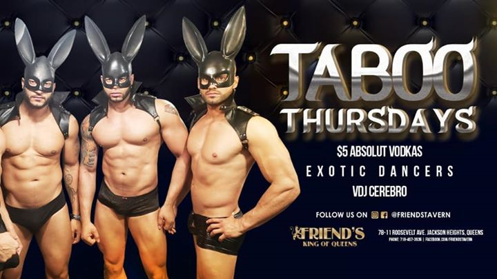 Taboo Thursdays a New York le gio  5 dicembre 2019 22:00-04:00 (Clubbing Gay)