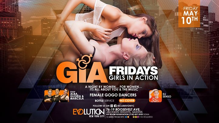 GIA Fridays (Girls Night) at E-Lounge in New York le Fri, July  5, 2019 from 11:00 pm to 04:00 am (Clubbing Lesbian)