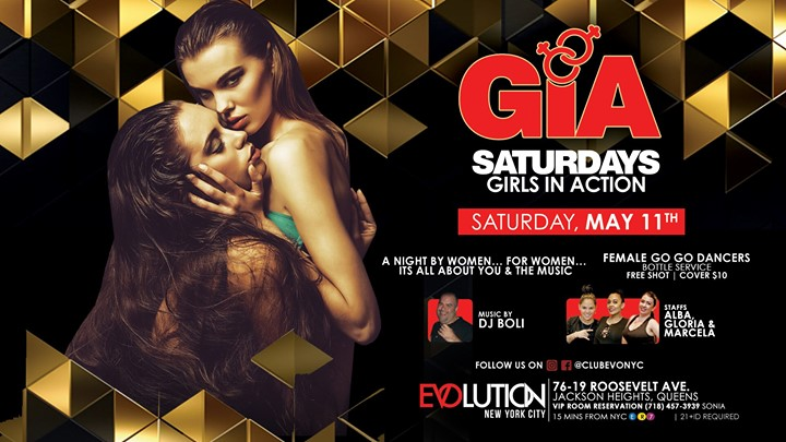 GIA Saturdays (Girls Night) at E-Lounge in New York le Sat, July 13, 2019 from 11:00 pm to 04:00 am (Clubbing Gay)