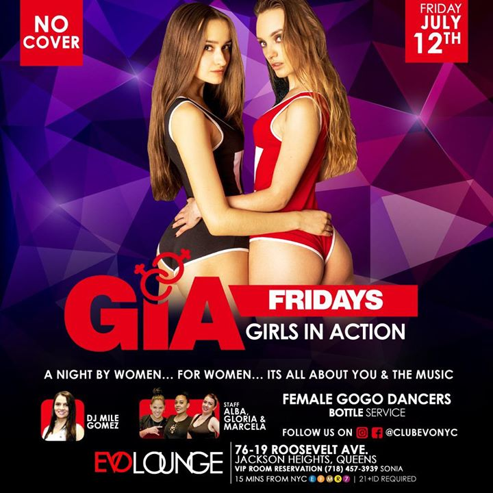 GIA Fridays (Girls Night) at E-Lounge à New York le ven. 24 janvier 2020 de 23h00 à 04h00 (Clubbing Lesbienne)