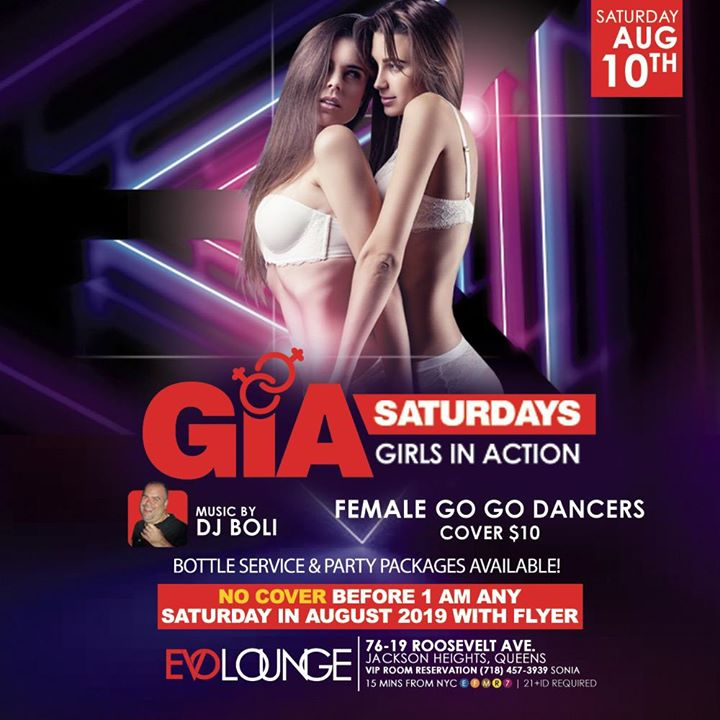 GIA Saturdays (Girls Night) at E-Lounge in New York le Sat, November 23, 2019 from 11:00 pm to 04:00 am (Clubbing Gay)