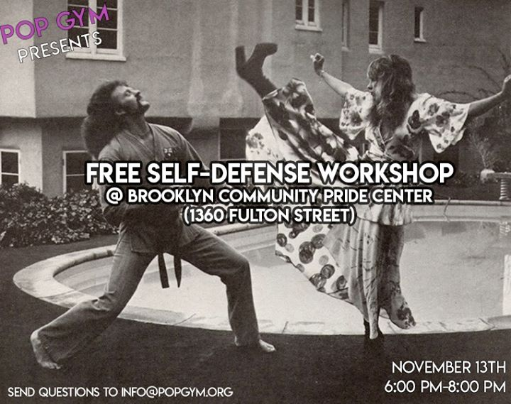 LGBTQ Self-Defense Class in New York le Wed, November 13, 2019 from 06:00 pm to 08:00 pm (Workshop Gay, Lesbian, Trans, Bi)
