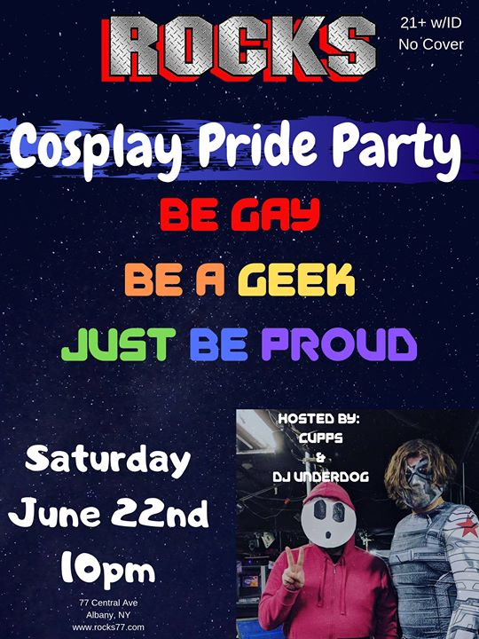 Rocks Cosplay Pride Party in Albany le Sa 22. Juni, 2019 21.00 bis 04.00 (Clubbing Gay)