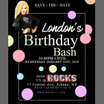 London's Birthday Bash; a Precise Explosion ! in Albany le Wed, January 31, 2018 from 08:00 pm to 02:00 am (After-Work Gay)
