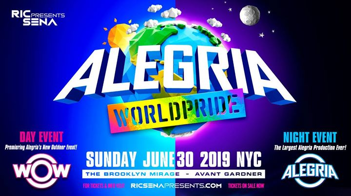 Alegria WorldPride 2019 in New York le Sun, June 30, 2019 from 05:00 pm to 05:00 am (Clubbing Gay)