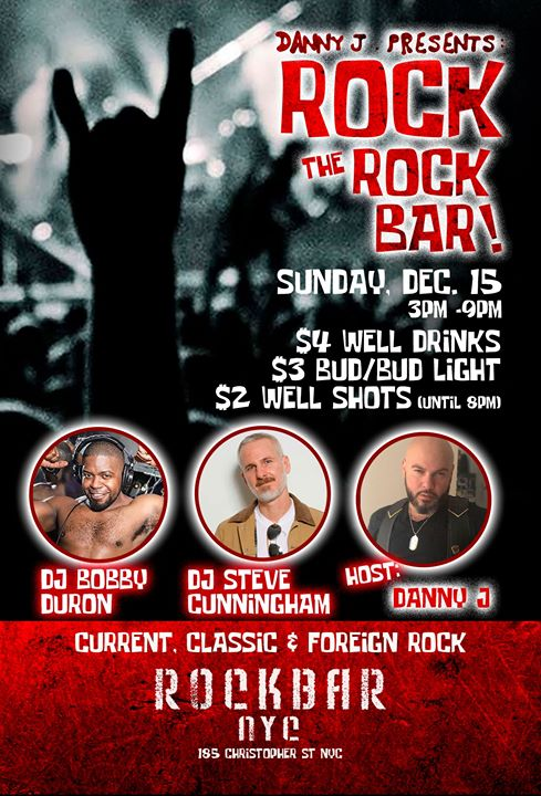 ROCK the Rockbar, Sunday Beer Blast! in New York le Sun, December 15, 2019 from 03:00 pm to 09:00 pm (After-Work Gay, Bear)