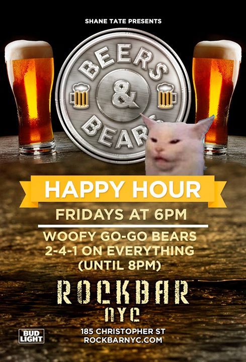 BEERS & BEARS 2-4-1 Friday Happy Hour Feat. Dj Ted Bishop in New York le Fri, December  6, 2019 from 06:00 pm to 10:30 pm (After-Work Gay, Bear)