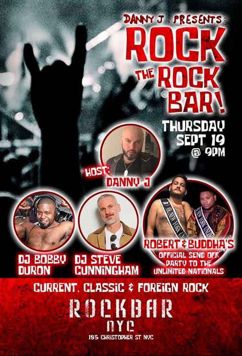 Rock the Rockbar, Official send of party for the NY Unlimited's in New York le Do 19. September, 2019 21.00 Uhr (Clubbing Gay, Bear)
