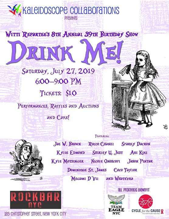 Drink Me! Witti Repartee's 8th Annual 39th Birthday Celebration in New York le Sa 27. Juli, 2019 18.00 bis 21.00 (After-Work Gay, Bear)