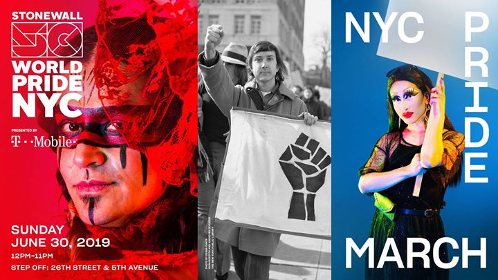 NYC Pride March: WorldPride 2019 | Stonewall 50 in New York le Sun, June 30, 2019 from 12:00 pm to 11:00 pm (Parades Gay, Lesbian)
