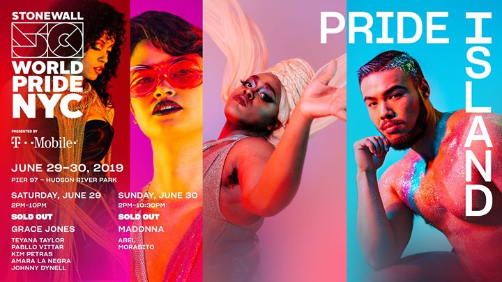 Pride Island: WorldPride 2019 | Stonewall 50 in New York le Sun, June 30, 2019 from 02:00 pm to 10:30 pm (Clubbing Gay, Lesbian)