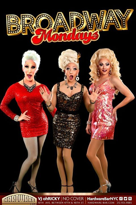 Broadway Mondays in New York le Mon, January  6, 2020 from 07:00 pm to 11:45 pm (After-Work Gay)