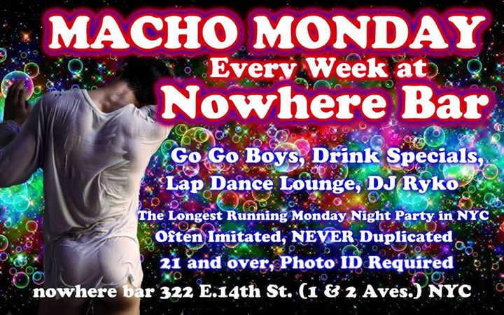 Macho Monday in New York le Mon, November 25, 2019 from 10:00 pm to 03:30 am (Clubbing Gay)