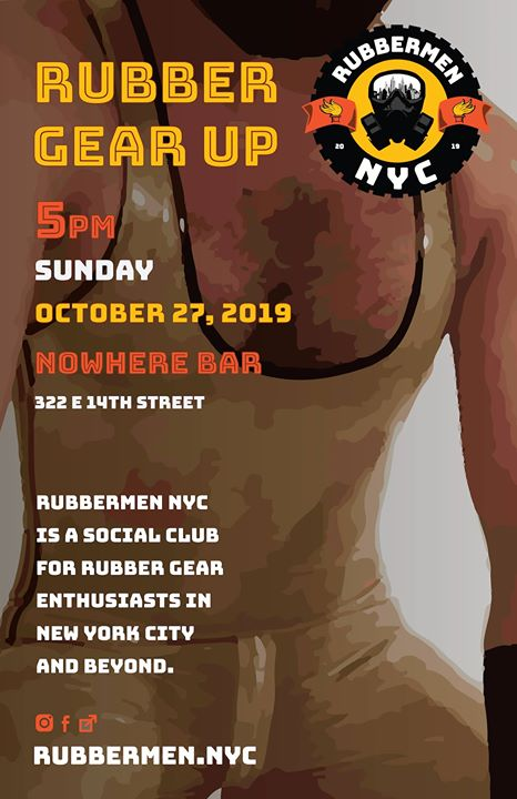 Rubber Gear Up October 2019 en Nueva York le dom 27 de octubre de 2019 17:00-20:00 (After-Work Gay)