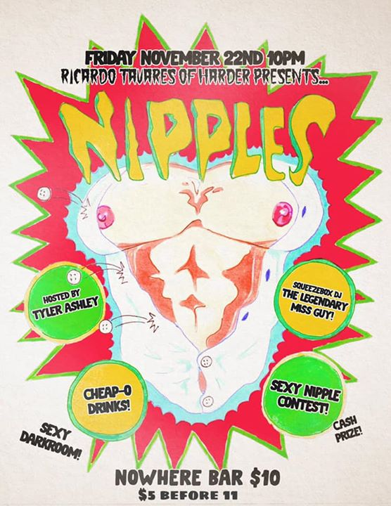 NIPPLES- New party alert in New York le Fri, November 22, 2019 from 10:00 pm to 04:00 am (Clubbing Gay)