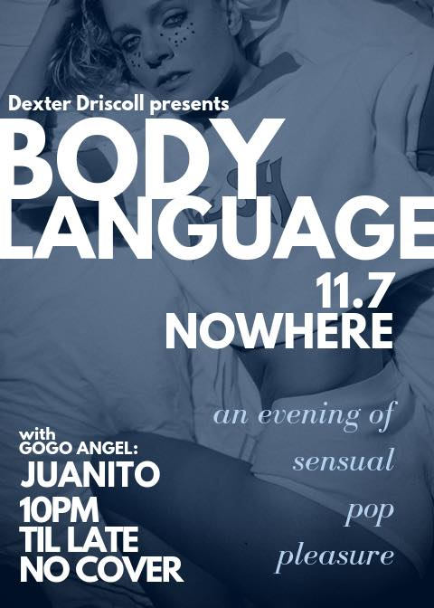 Body Language 11.7 at Nowhere in New York le Thu, November  7, 2019 at 10:00 pm (After-Work Gay)