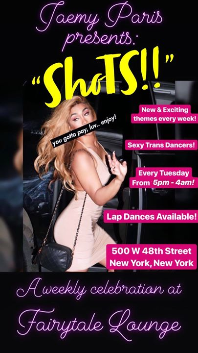 Jaemy Paris presents ShoTS à New York le mar. 20 août 2019 de 17h00 à 04h00 (Clubbing Gay)