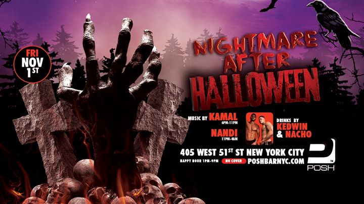 Flavor Fridays: Nightmare After Halloween à New York le ven.  1 novembre 2019 de 13h00 à 04h00 (Clubbing Gay)