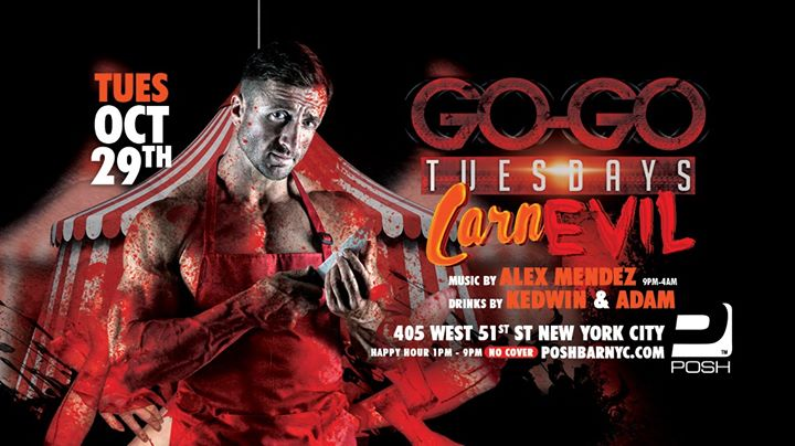 GO-GO Tuesdays: CarnEVIL in New York le Tue, October 29, 2019 from 01:00 pm to 04:00 am (Clubbing Gay)