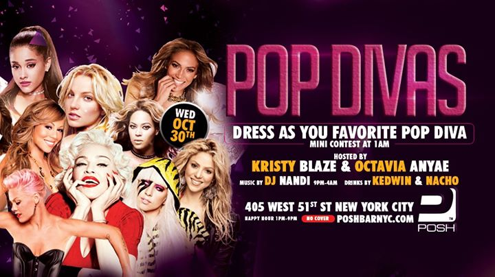 Drag N' Beats: POP DIVAS a New York le mer 30 ottobre 2019 13:00-04:00 (Clubbing Gay)
