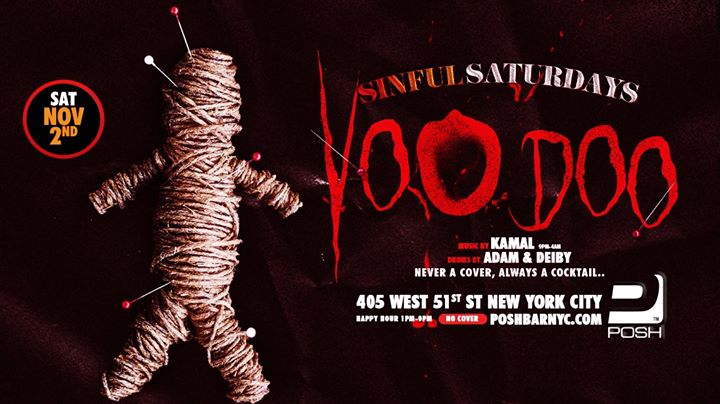Sinful Saturdays: Voodoo à New York le sam.  2 novembre 2019 de 13h00 à 04h00 (Clubbing Gay)