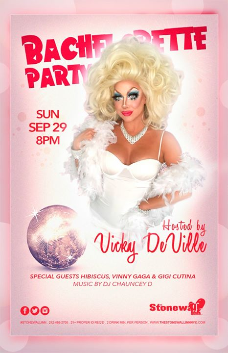 Bachelorette Party with Vicky DeVille in New York le Sun, September 29, 2019 from 08:00 pm to 10:00 pm (Show Gay)