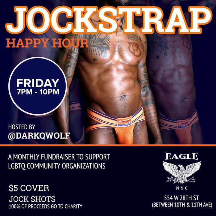 Jockstrap Happy Hour à New York le ven. 23 août 2019 de 19h00 à 22h00 (Clubbing Gay)