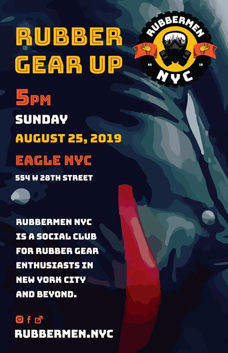 Rubber Gear Up August 2019 in New York le Sun, August 25, 2019 from 05:00 pm to 08:00 pm (After-Work Gay)