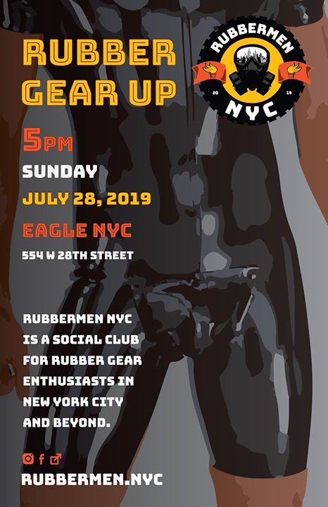 Rubber Gear Up July 2019 in New York le Sun, July 28, 2019 from 05:00 pm to 08:00 pm (After-Work Gay)