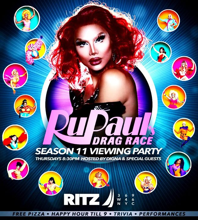 Season 11 Viewing Party en Nueva York le jue  2 de mayo de 2019 20:30-22:30 (After-Work Gay)