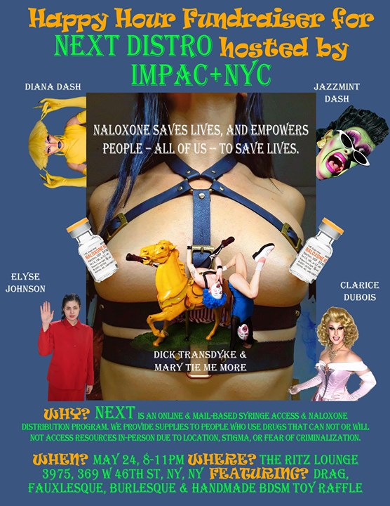 Impac+NYC Happy Hour Benefiting NEXT Distro en Nueva York le vie 24 de mayo de 2019 20:00-23:00 (After-Work Gay)