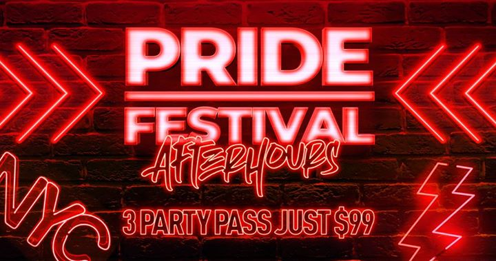 PRIDE Afterhours 2019 - The WORLD is coming to New York City in New York from June 29 til July  1, 2019 (After Gay)