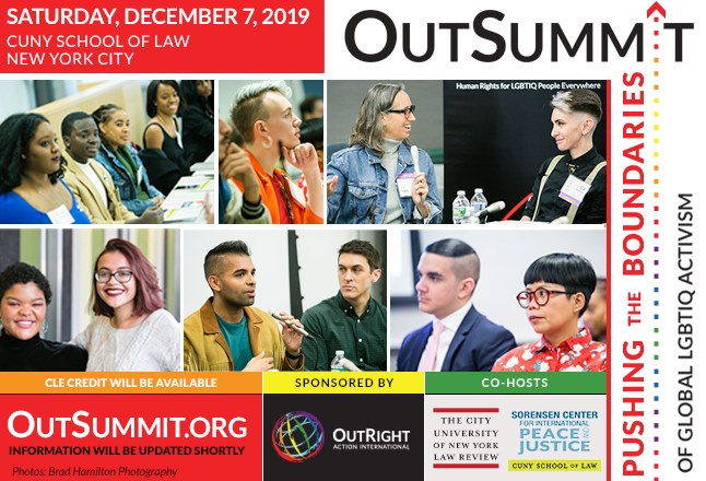 OutSummit One Day Conference for LGBTI Human Rights en Long Island City le sáb  7 de diciembre de 2019 08:15-20:30 (Reuniones / Debates Gay, Lesbiana, Trans, Bi)