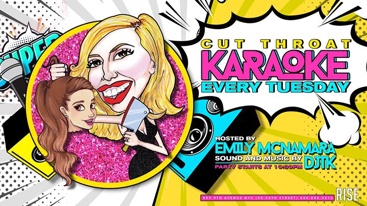 Kut Throat Karaoke (hosted by Emily McNamara) in New York le Tue, November 19, 2019 from 10:00 pm to 02:00 am (Clubbing Gay)