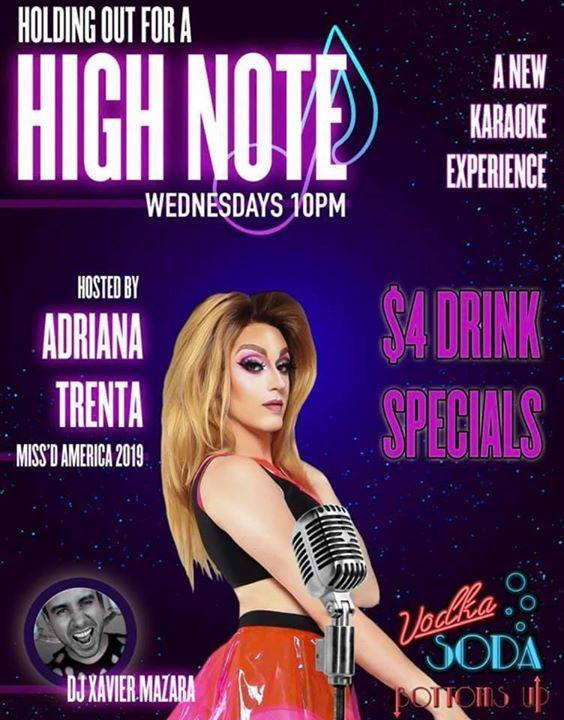 Holding Out For A High Note à New York le mer. 31 juillet 2019 de 22h00 à 02h00 (Clubbing Gay)