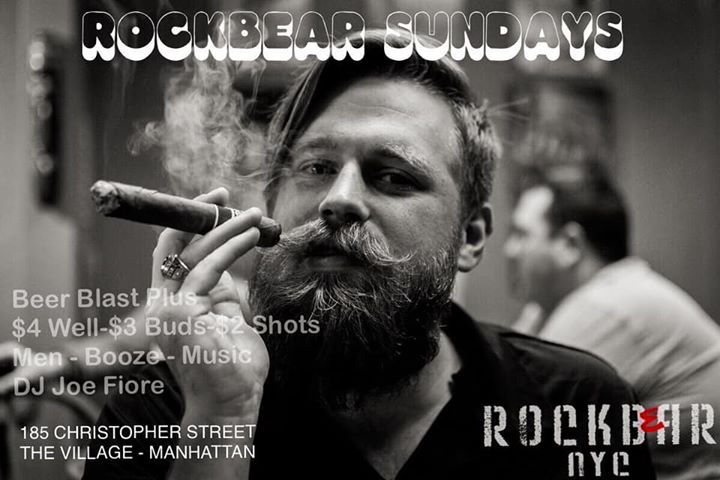 Rockbear PLUS Famour Sunday Beer Blast! a New York le dom  1 marzo 2020 15:00-21:00 (After-work Gay)